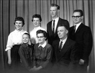 Bernard Silver family,, Minnesota 1953
