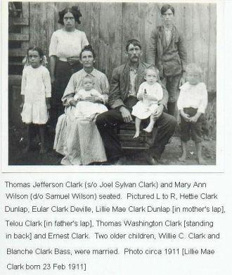 Tom and Mary Clark Family