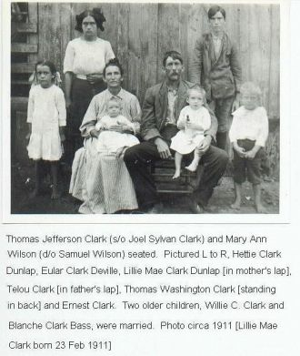 Tom and Mary Clark Family