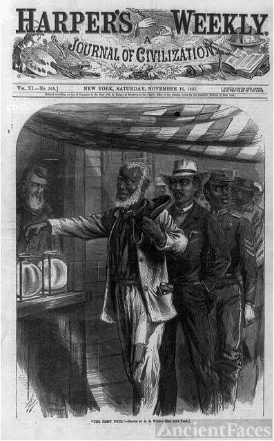 The first vote / drawn by A.R. Waud.