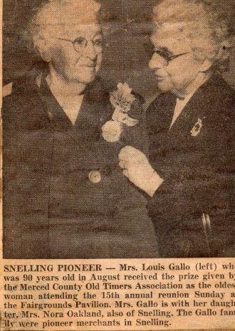 Louise Gallo & Nora Gallo Oakley
