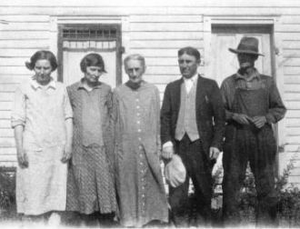 Anna Maria (Little) Barker and children