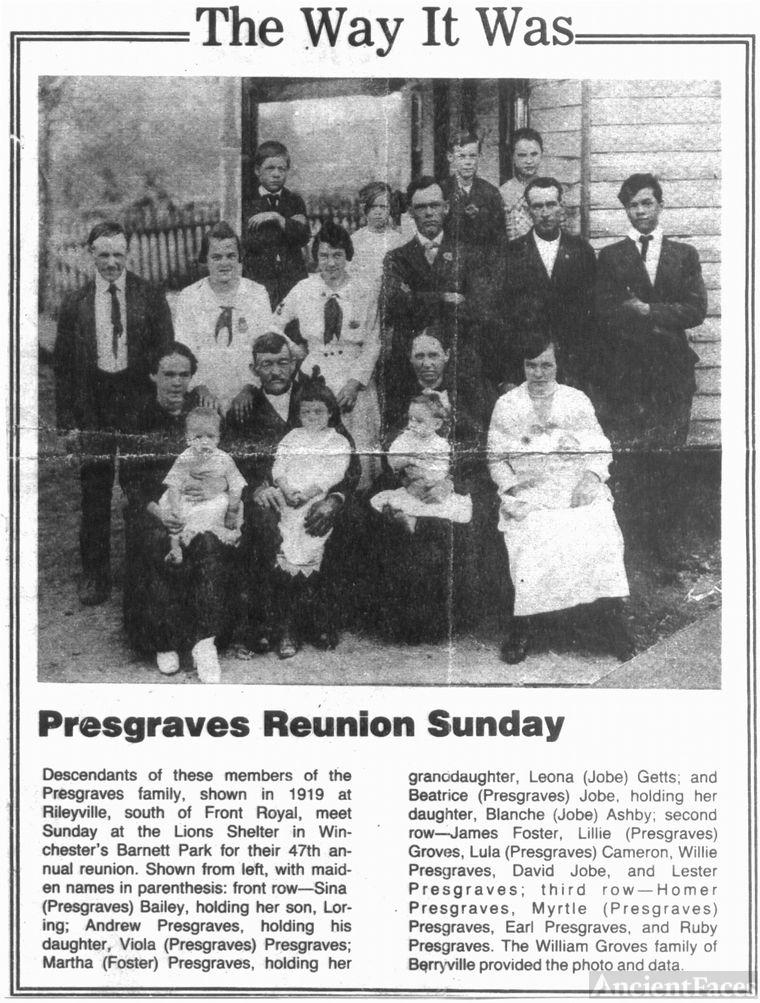 Presgraves & Foster Family Reunion
