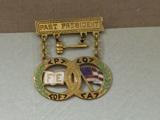 Past President pin, Joseph Roleson