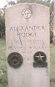 Alexander Hodge Tx Militia, Revolutionary War