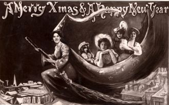 La Belfana Christmas postcard