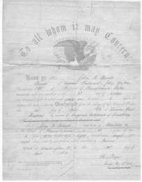 John B. Brink's Civil War discharge paper