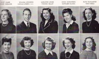 Janet James and the 1945 Senior Class