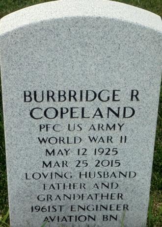 Burbridge R Copeland Headstone