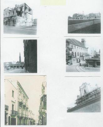 Izzo bombed building, Naples,  Italy 1950s