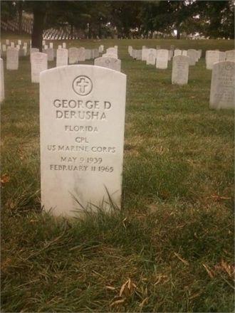 George D. Derusha Headstone