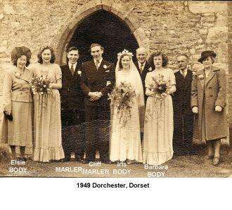 Cliff Marler & Elsie Body wedding