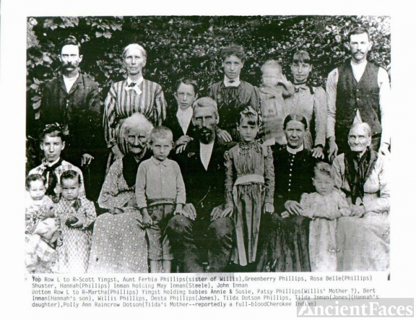 Mary Ann Renno (Amos/Nigs) and the Phillips Family