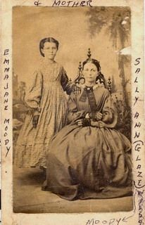Emma Jane Moody and her mother, Sally Ann (Glaze) Moody