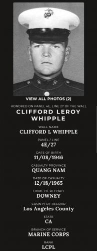 LCPL Clifford Leroy Whipple