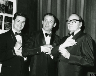 Regis Philbin, Joey Bishop, and Jack Benny