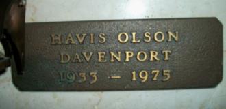 Havis Davenport Gravesite
