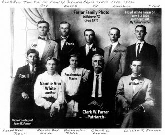 Clark Wallace Farrar Family Picture
