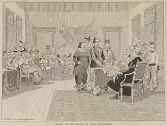 Signing the declaration of their independence / Ehrhart...