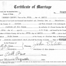 Effie Winnie (Agee) Reynolds Marriage License