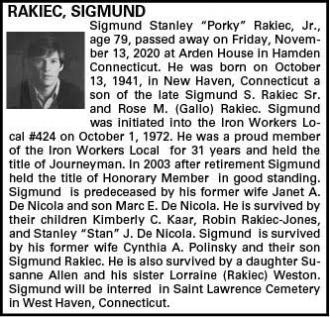 Sigmund S Rakiec Jr