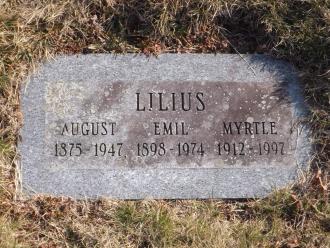 Myrtle A Lilius Gravesite