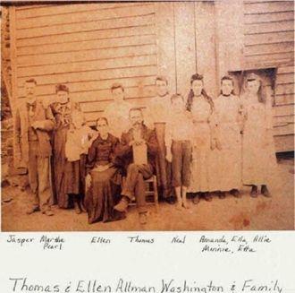 Thomas & and Elendor Allman Washington Family