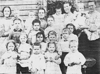 Bower Girls and their children
