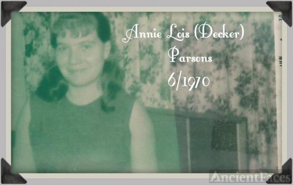 Annie L. (Decker)Parsons
