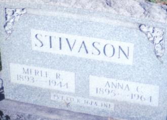 Anna and Merle (R.) Stivason Gravesite