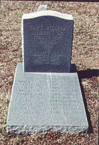 Tombstone Capt. William Levi Bobbitt