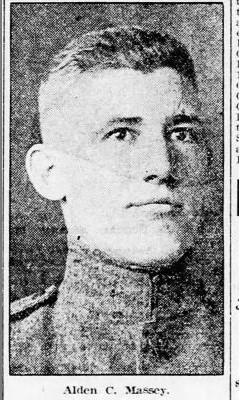 Alden Clyde Massey in uniform