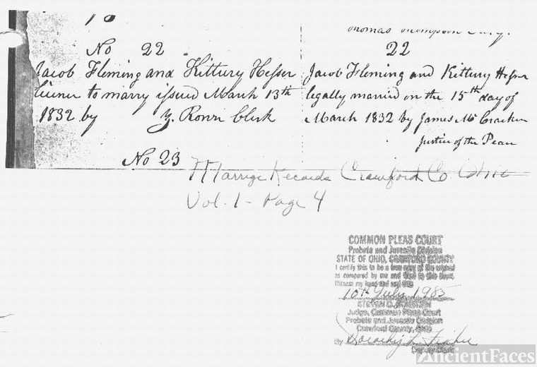 Marriage of Jacob FLEMING & Catherine HESSER~3gp