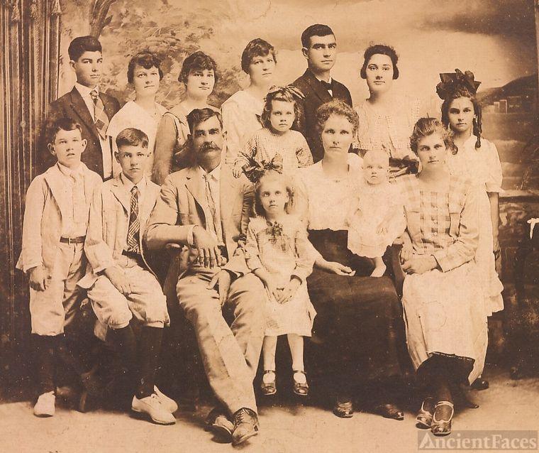 G H Ezell family (parents and 13 children)