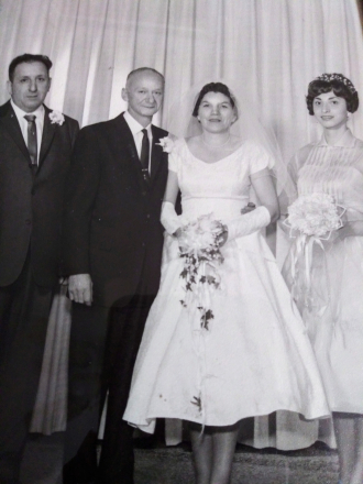 Mrs.Joseph F Domenice Sr Wedding photo