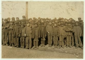 Group of boys working in #9 Breaker Pennsylvania Coal...