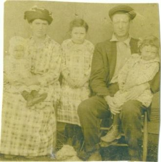 maudie and will blevins and 3 daughters