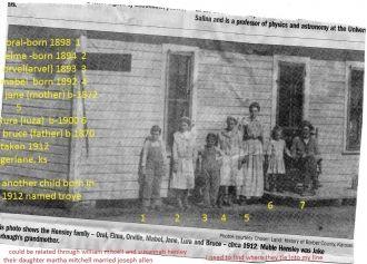 Bruce & Jane Hensley Family, KS 1912