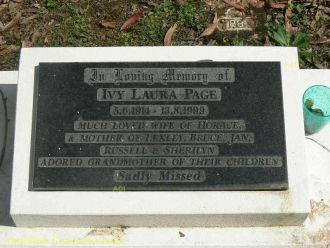 Ivy Laura Wild Page gravesite