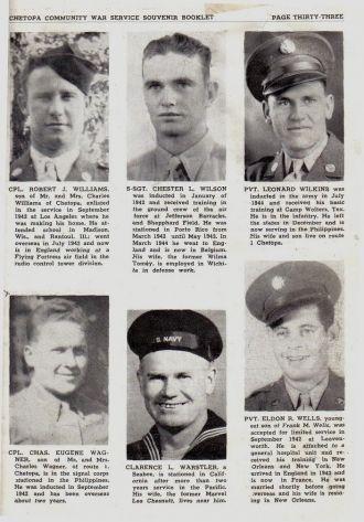 Williams, Wilson, Wilkins, Wagner, Warstler, Wells; Kansas