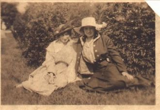 Josephine Fowler and Friend