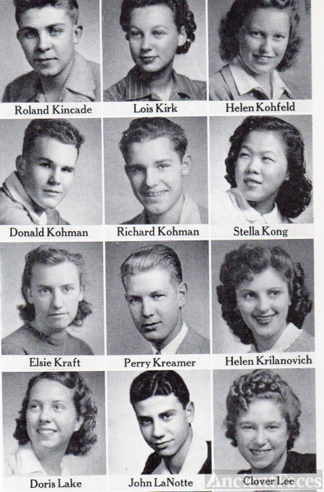 Roland Kincade, 1942 Fresno Technical High School