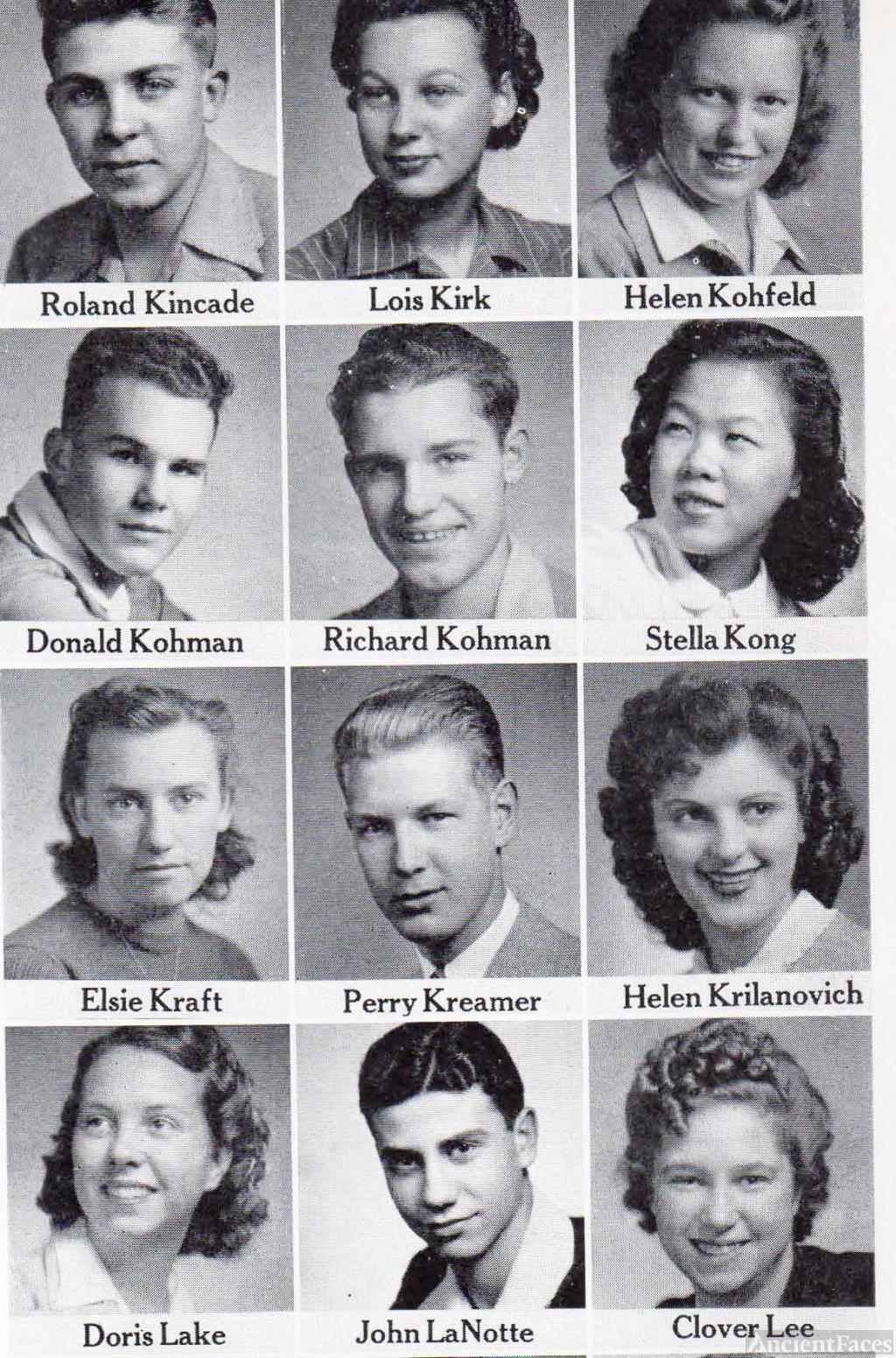 Roland Kincade, 1942 Fresno Technical High School