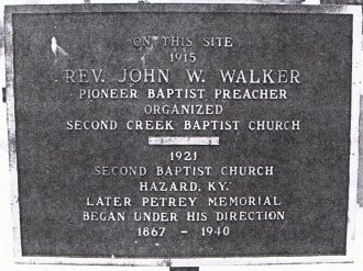 Rev John Walker plaque