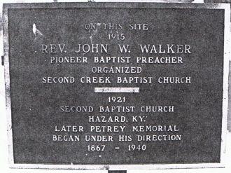 Rev John Walker plaque