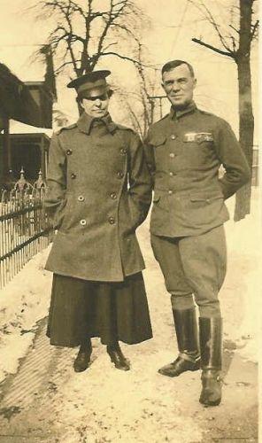 Mrs. Monta Whitaker & Lieutenant H. Bridwell