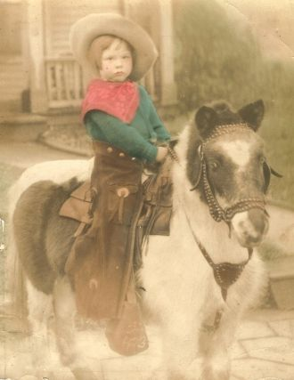 Norma Steed on pony