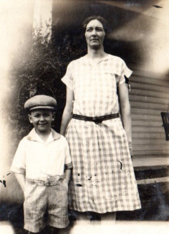 Lura Roberts Been and her son Norman
