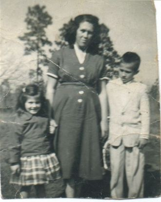 Audrey Powell Cobb with Kids