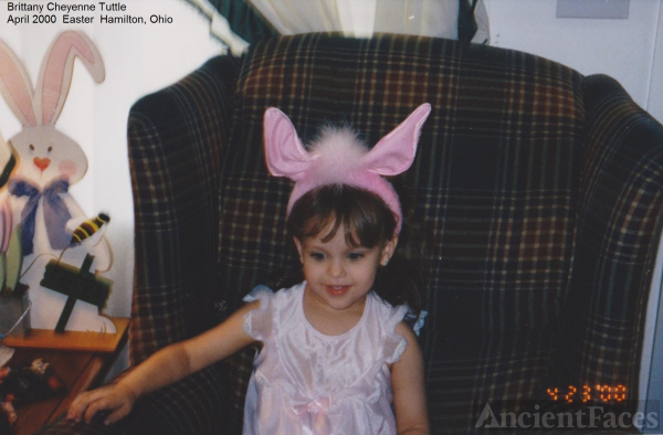 Brittany Tuttle on Easter 2000